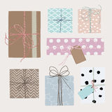 Vector set with gift boxes Stock Images