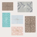Vector set with gift boxes i Royalty Free Stock Photography