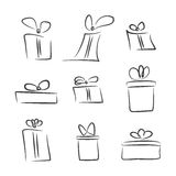 Vector set of gift boxes Stock Photo