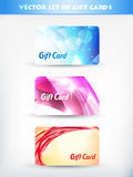 Vector set of gift card Royalty Free Stock Image
