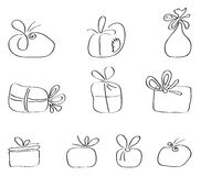 Vector set of gift packages Royalty Free Stock Photo
