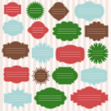 Vector set of gift tags for christmas presents. Stock Image