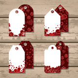 Vector set of gift tags for Valentine's Day. Stock Photos