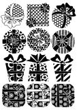 Vector set of gifts Royalty Free Stock Image