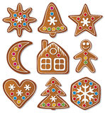 vector set of gingerbread cookies Royalty Free Stock Image