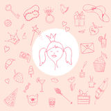 Princess signs and symbols Royalty Free Stock Photos