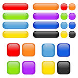 vector Set of glass buttons Stock Photography
