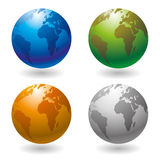Vector set. Globe icons. Royalty Free Stock Images