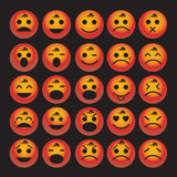 Vector set of glossy Emoticons Royalty Free Stock Photography