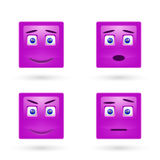Vector set of glossy Emoticons Royalty Free Stock Image