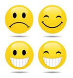 Vector set of glossy Emoticons Royalty Free Stock Images