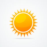 Vector Set of glossy sun Royalty Free Stock Images