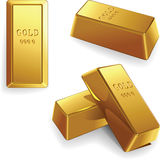 Vector Set of gold bars Stock Images