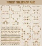 Vector set of gold decorative borders, frame Stock Photo