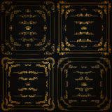Vector set of gold decorative borders, frame Stock Image