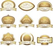 Vector set of gold design elements Stock Images