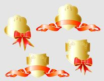 Vector set of gold heraldic symbols Stock Photography
