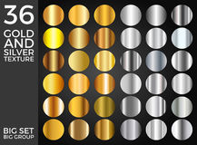Vector Set of Gold and Silver Gradients, Gold and Silver Squares Collection, Textures Group. Eps 10 Stock Image