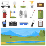 Vector set of golf icons Stock Photo