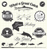 Vector Set: Gone Fishing Labels Royalty Free Stock Photos
