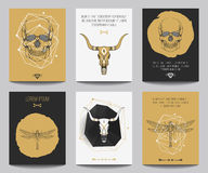 Vector set of gothic posters Royalty Free Stock Images