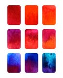 Vector set of gradient watercolor elements for design isolated on white. Vector set of colorful rectangular gradient watercolor elements for design isolated on vector illustration