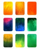 Vector set of gradient watercolor elements for design isolated on white Stock Photo