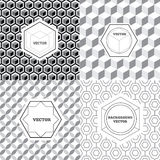 Vector set of graphic design elements, logo design templates. Geometric style,  business card templates, labels and badges on decorative backgrounds Stock Image