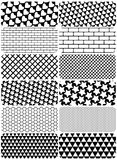 Vector set of graphic patterns Royalty Free Stock Image