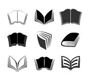 Vector set of graphical books icons Royalty Free Stock Photos