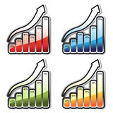 vector set of graphs Stock Photography