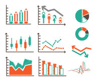 Vector set of graphs Stock Image