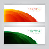 Vector set green red curves wave lettering background Royalty Free Stock Photos
