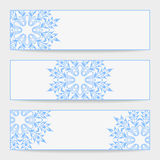 Vector set greeting or invitation cards. Royalty Free Stock Photo