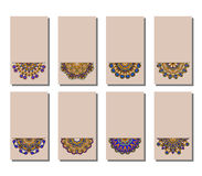Vector set of greeting or invitation cards. Royalty Free Stock Image