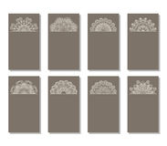 Vector set of greeting or invitation cards. Stock Photo