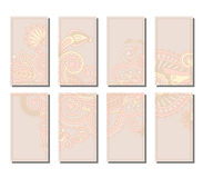 Vector set of greeting or invitation cards. Royalty Free Stock Images