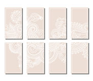 Vector set of greeting or invitation cards. Stock Photos