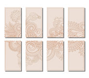Vector set of greeting or invitation cards. Royalty Free Stock Photo