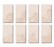 Vector set of greeting or invitation cards. Stock Images