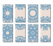 Vector set of greeting or invitation cards. Royalty Free Stock Photos