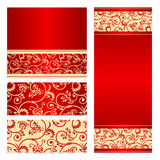 Vector set greeting or invitation cards. Stock Photography