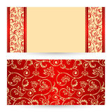 Vector set greeting or invitation cards. Stock Images