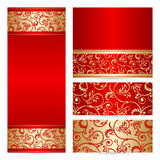 Vector set greeting or invitation cards. Stock Image