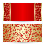 Vector set greeting or invitation cards. Stock Photos