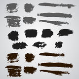 Vector set of grunge  broad brush strokes. Stock Photo