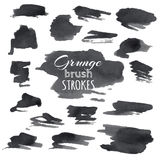 Vector set of grunge brush strokes. Stock Photos