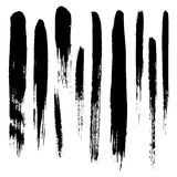 Vector set of grunge brush strokes Stock Image