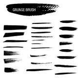 Vector set of grunge brush strokes Royalty Free Stock Images