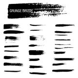 Vector set of grunge brush strokes Royalty Free Stock Photography